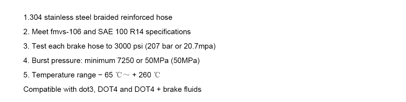 the features of ptfe brake hose